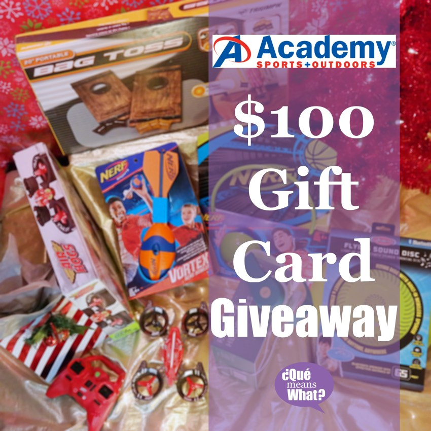 Academy Sports + Outdoors Gift Card Giveaway - QueMeansWhat.com