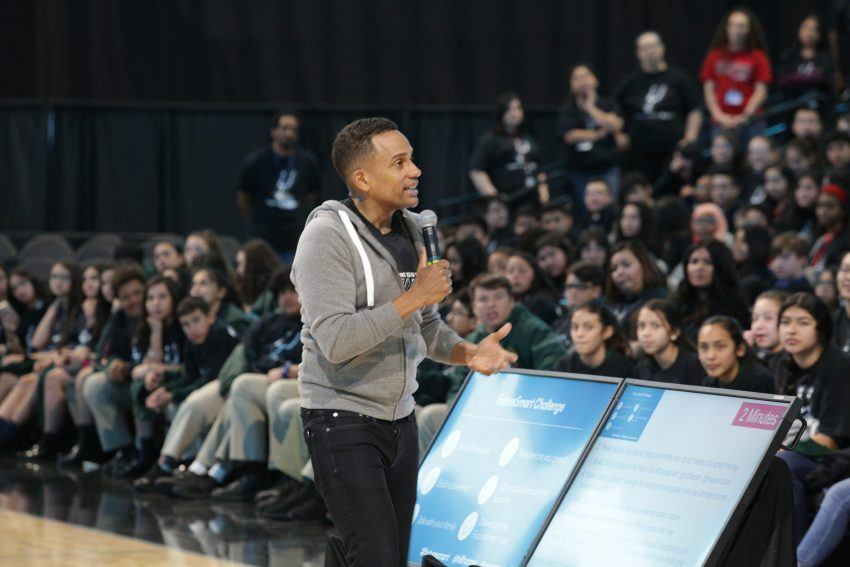 Teach Students About Money Not Just Math - Hill Harper at MassMutual #FutureSmart Event in the AT&T Center with almost 3,000 students