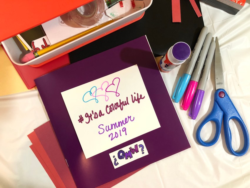 Lessons in Self-Expression: Create Something Colorful #ItsAColorfulLife Scrapbook Challenge