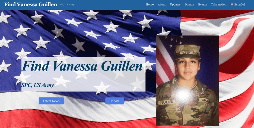 Find Vanessa Guillen Website