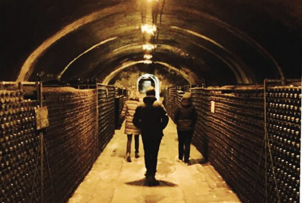 Chalk caves Champagne Bollinger