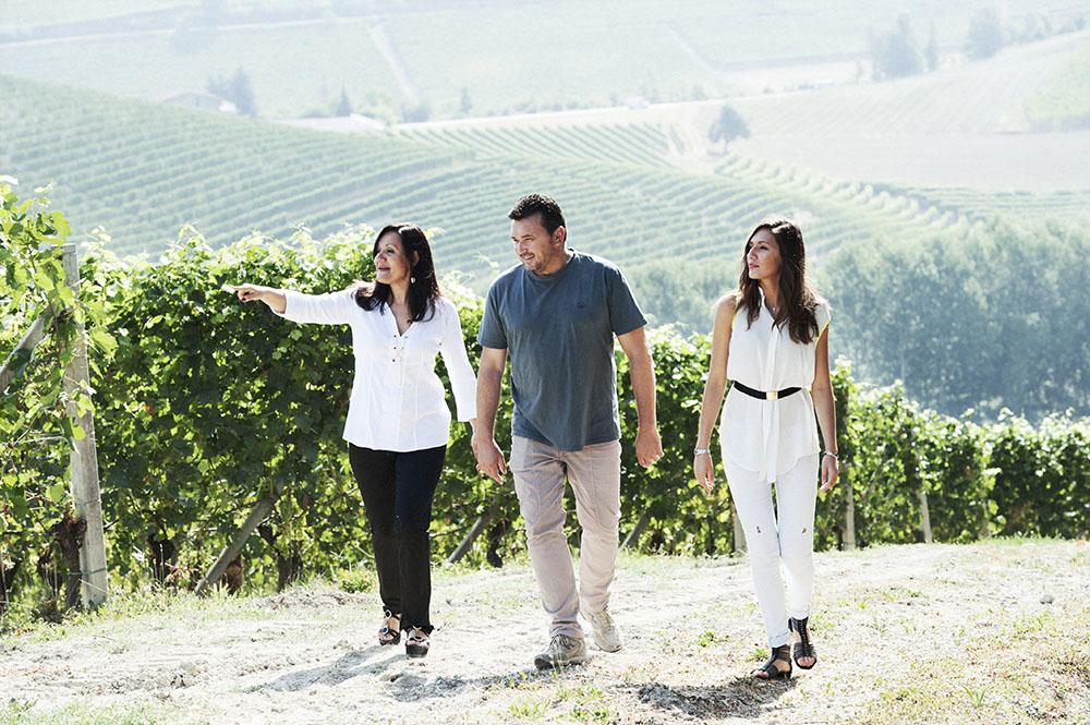 Piedmont producer Elvio vineyard