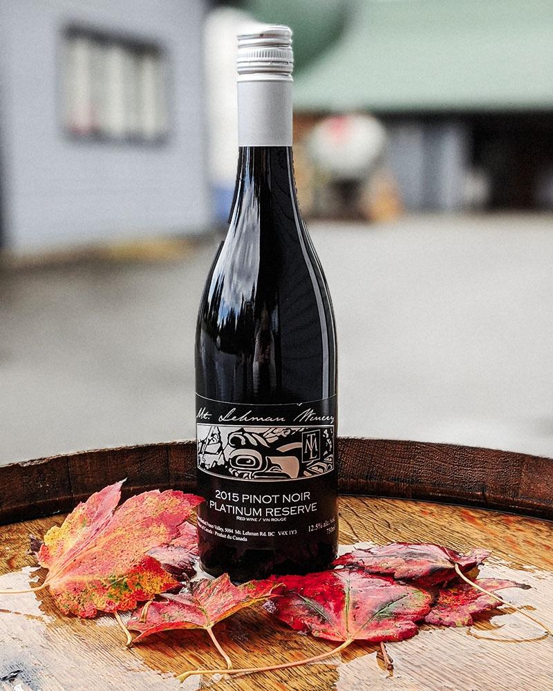 Pinot Noir from Mt Lehman Winery, British Columbia