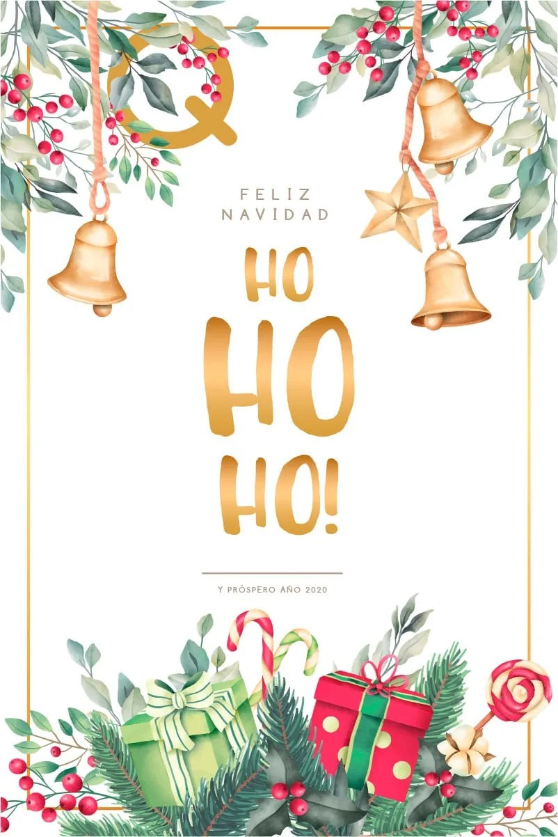 Felicitación navidades 2019