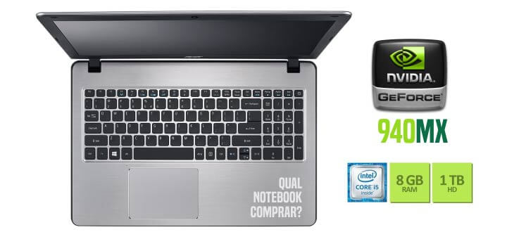 Notebook Acer F5-573G-59AJ placa de vídeo 940MX