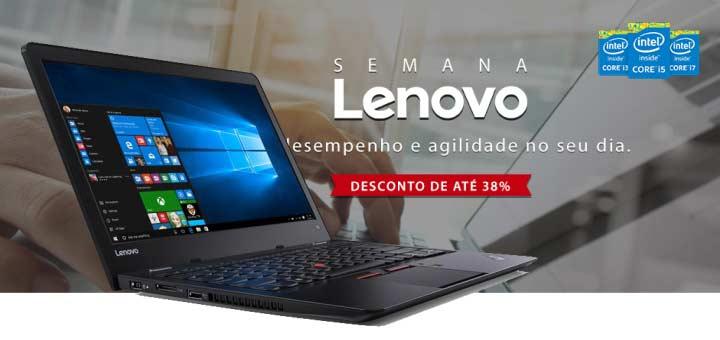 Semana Lenovo na Fast Shop notebook com desconto