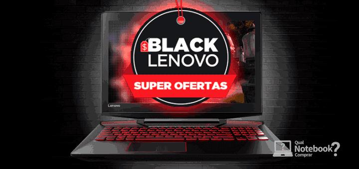 Black Lenovo Super ofertas de Notebooks na loja Oficial
