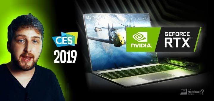 NVIDIA para Notebooks na CES 2019 lançamentos linha RTX
