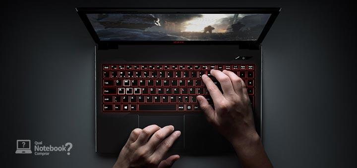 2AM Gaming teclado retroiluminado vermelho