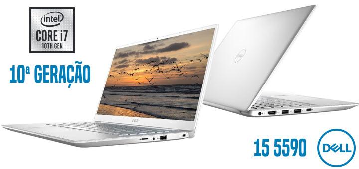 Notebook Ultrafino Dell Inspiron 5590 com processador intel core decima ger