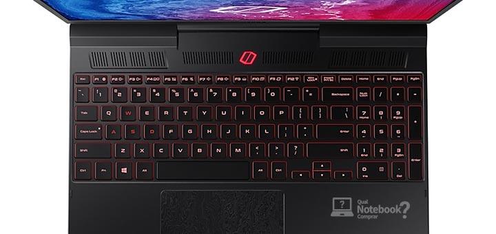 Samsung Odyssey 2 NP850XBC-XG1BR teclado retroiluminado