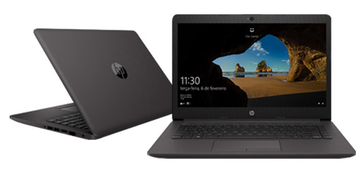 Notebook HP 246 G7 preto compacto