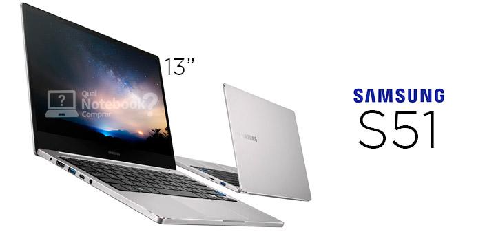Notebook Samsung Style S51 compacto com tela de 13,3 polegadas