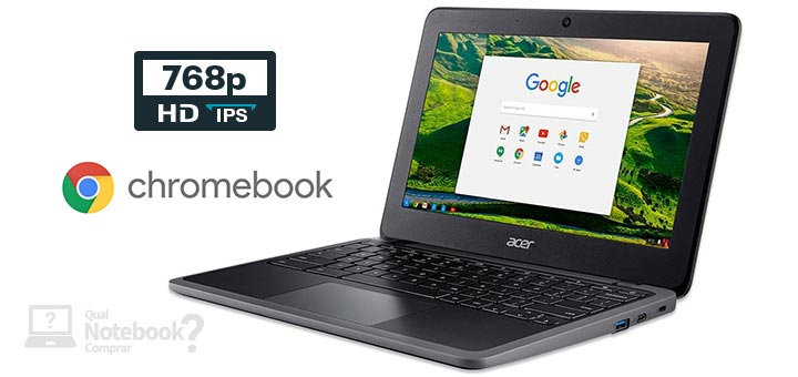 Acer Chromebook C7 C733-C6M8 capa Intel Celeron RAM 4 GB Flash eMMC 32 GB HD IPS