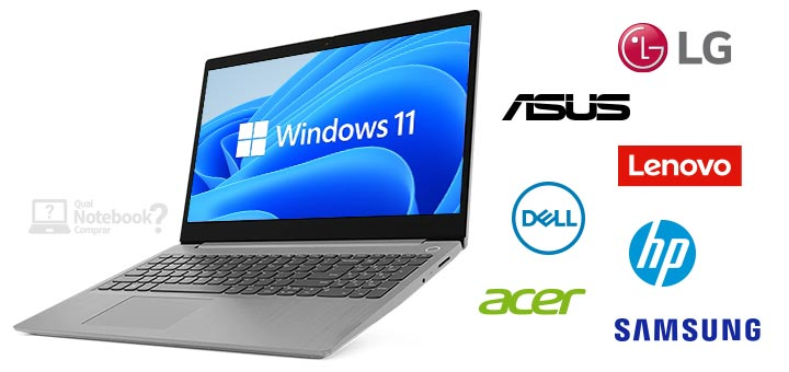 Windows 11 notebooks compativeis Dell Acer ASUS HP Lenovo Samsung LG