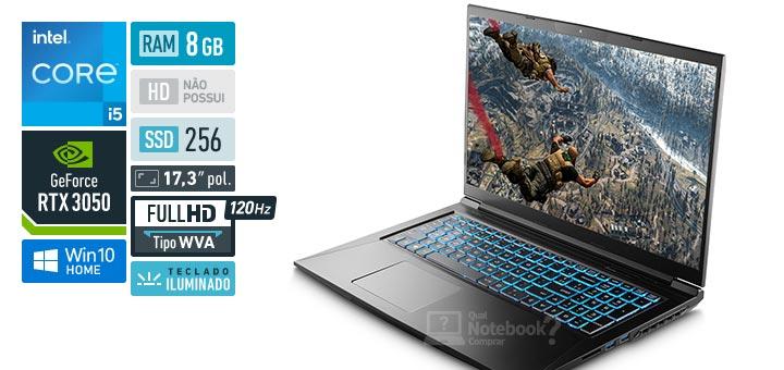 Avell MOB C62 300940 Intel Core i5 11th RAM 8 GB SSD 256 GB Nvidia GeForce RTX 3050 Full HD WVA 120 Hz