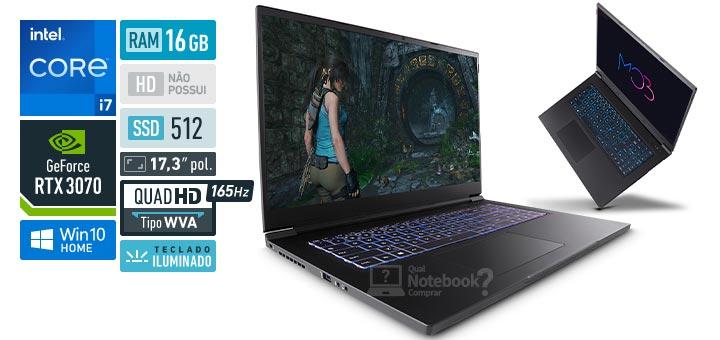 Avell MOB C65 300971 Intel Core i7 11th RAM 16 GB SSD 512 GB Nvidia GeForce RTX 3070 Quad HD WVA 165 Hz