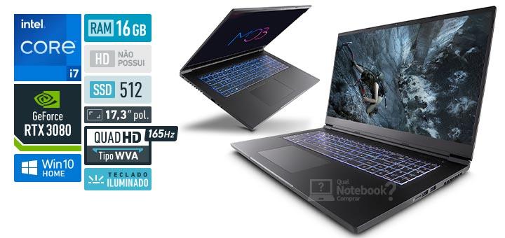 Avell MOB C65 300988 Intel Core i7 11th RAM 16 GB SSD 512 GB Nvidia GeForce RTX 3080 Quad HD WVA 165 Hz