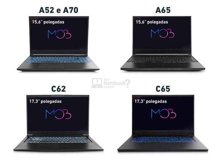 Avell MOB visual design acabamento 15 ou 17 polegadas A52 A65 A70 C62 C65