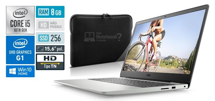 Dell Inspiron 15 3000 i3501-M46SS Intel Core i5 10th RAM 8 GB SSD 256 GB UHD Graphics G1 Capa Protetora