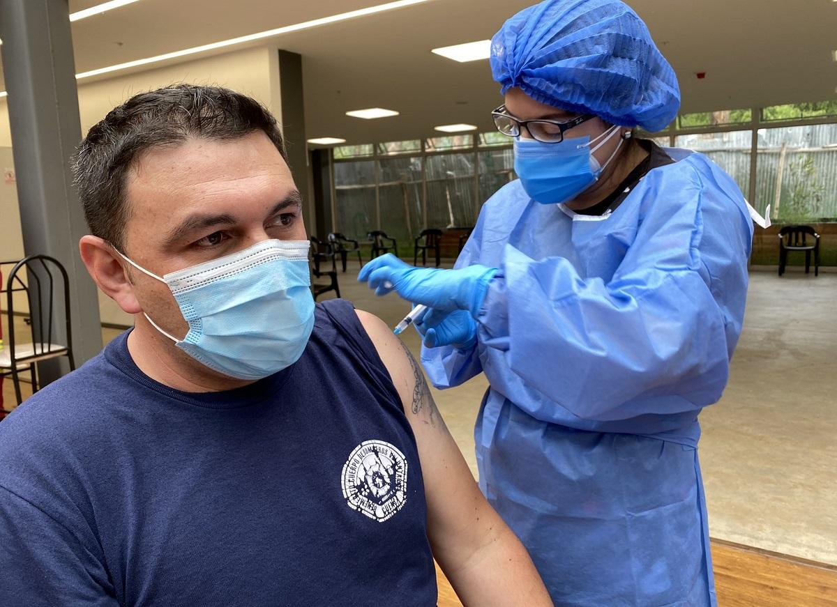 Bomberos de Cuenca vacunas Covid-19