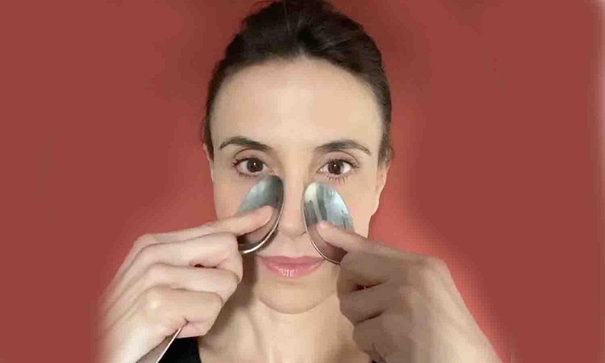 masaje facial cucharas
