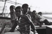 Tri X / 24x36 / Childrens on the Ganga - Varanasi