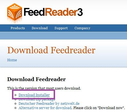 Manual de FeedReader  (2/6)