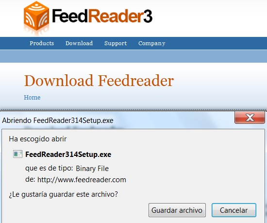 Manual de FeedReader  (3/6)