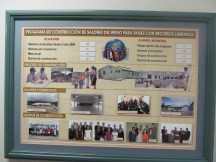 This information board shows projection of Kingdom Halls needed, those built and goal for coming years to be built.