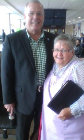 This couple from Cincinnati, married 45 years, he proposed when they were 5 years old but her mom made her wait! LOL!
