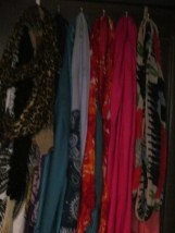 """Scarf wall """"before"""""""