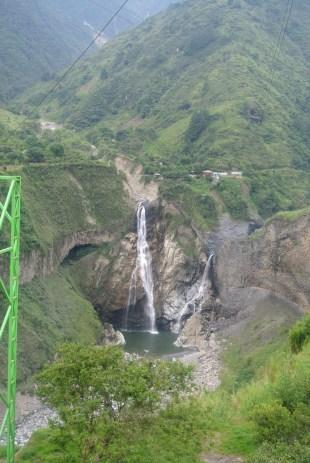 along the avenue of waterfalls Baños de Ambato