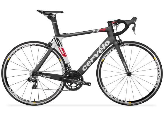 Bicicleta de ruta aerodinámica Cervelo S5
