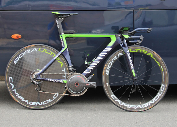 Bicicleta para etapas contrarreloj del Tour de Francia.