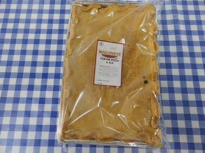 Steak and Ale pie from Maloney the prize-winning butcher