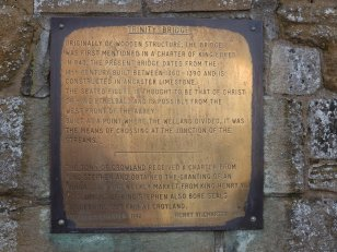 Modern Brass Plaque on Trinity Bridge