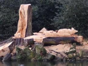 Sculptures at Arnot Hill