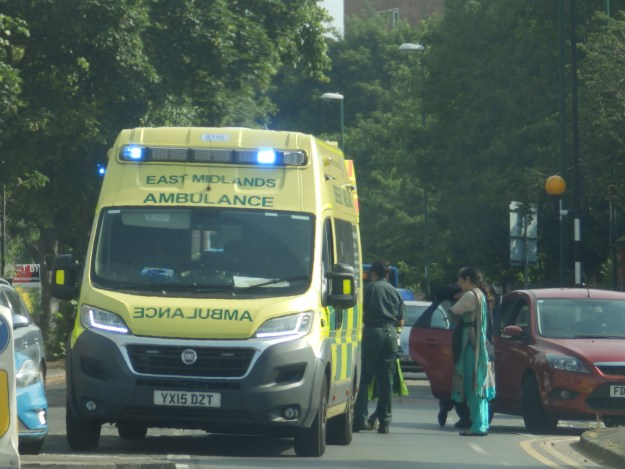 Accident on Woodborough Road , Nottingham
