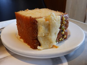 Clementine Drizzle cake with pistachio topping