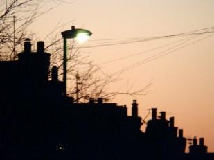 Sky at dusk - Nottingham