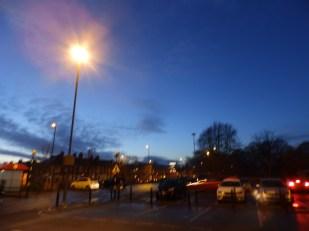 Night sky over Nottingham