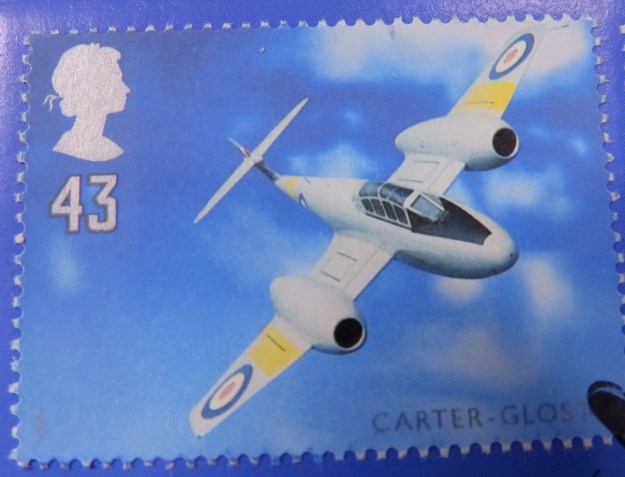 Gloster Meteor stamp