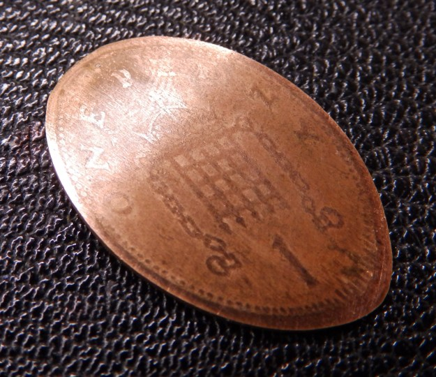 Squashed penny - reverse