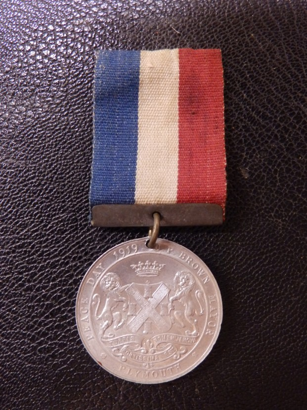 Plymouth Peace Medal 1919