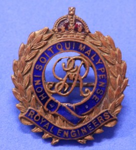 Royal Engineers Sweetheart brooch - Great War
