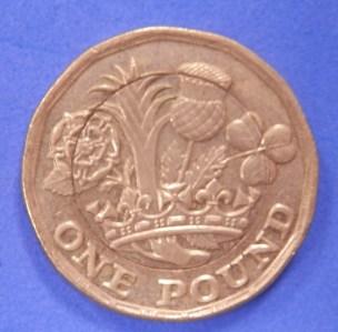 Mis-struck £1 coin