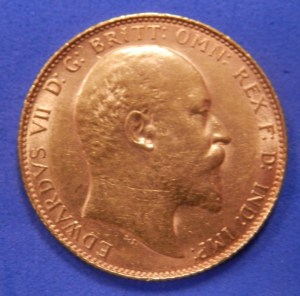 Edward VII Sovereign (Obverse)