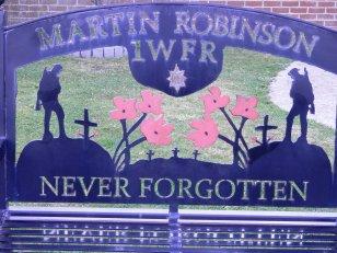Memorial Bench - Pte Martin Robinson 1 WFR