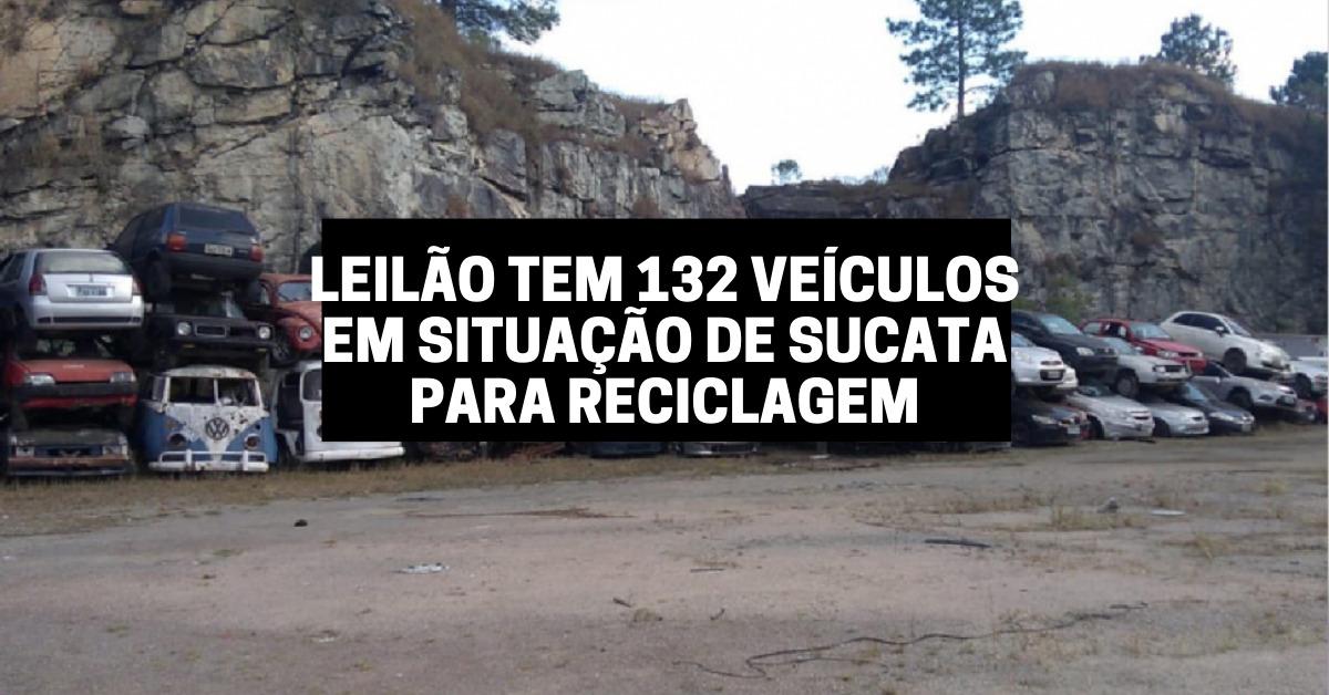 Leilão tem 132 veículos em situação de sucata para reciclagem